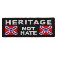 Heritage Not Hate Rebel Flag Patch | Embroidered Patches