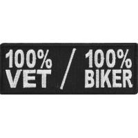 100 Percent Vet 100 Percent Biker Patch