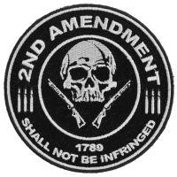 2nd Amendment Skull 1789 Small Patch | US Military Veteran Patches