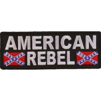 American Rebel Patch With Flags   Embroidered Patches