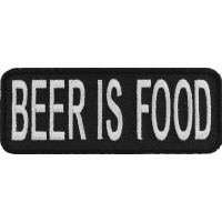 Beer Is Food Funny Patch | Embroidered Patches