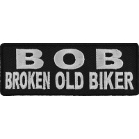 BOB Broken Old Biker Patch | Embroidered Patches