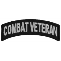 Combat Veteran Small Rocker Patch | US Military Veteran Patches