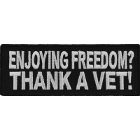 Enjoying Freedom Thank A Vet Patch | US Military Veteran Patches