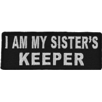 I Am My Sister's Keeper Patch In Black And White | Embroidered Patches