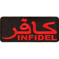Infidel Patch Red With Arabic