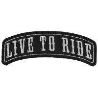 Live To Ride Rocker Small Patch | Embroidered Patches