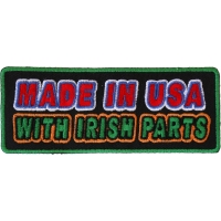 Made In USA With Irish Parts Patch | Embroidered Patches