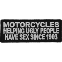 Motorcycles Helping Ugly People Have Sex Patch | Embroidered Patches