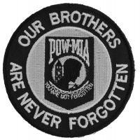 Our Brothers Are Never Forgotten Patch Small | US Military Veteran Patches