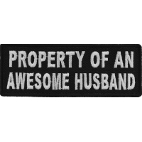 Property Of An Awesome Husband Patch | Embroidered Patches