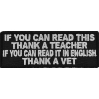 Read English Thank A Vet Patch | US Military Veteran Patches