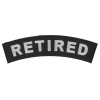 Retired Medium Size Rocker Patch | US Military Veteran Patches