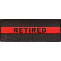 Retired Red Line Firefigher Patch | Embroidered Patches