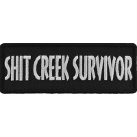 Shit Creek Survivor Patch | Embroidered Patches
