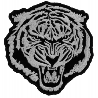 Small White Baron Tiger Patch | Embroidered Patches