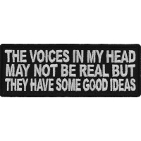 The Voices In My Head May Not Be Real Fun Patch | Embroidered Patches