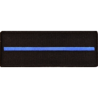 Thin Blue Line Patch For Law Enforcement | Embroidered Patches