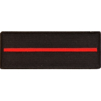 Thin Red Line Patch For Firefighters | Embroidered Patches