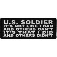 US Soldier I Did And Others Didn't Patch | US Military Veteran Patches