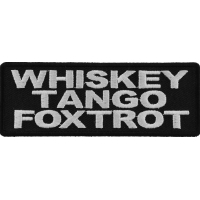 Whiskey Tango Foxtrot Patch | US Military Veteran Patches