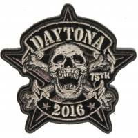 Daytona Sheriff Star Skull Bike Week 2016 Patch