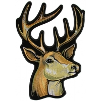 Dear Head Large Buck Patch