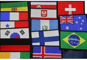 International Flags as Embroidered Patches