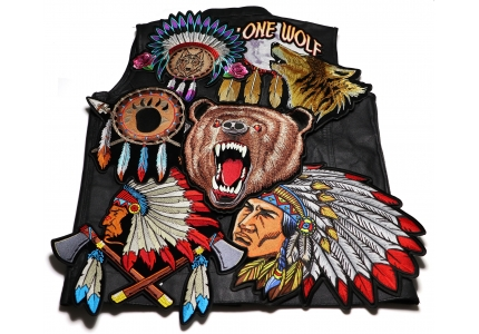 Large Embroidered Iron On Center Biker Back Patches For Vests