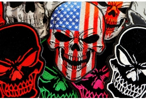 American Indian Skull Patch Designs