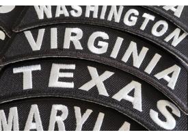 Shop 50 US State Rocker Biker Patches
