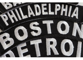 Shop Iron on City Name Biker Patches