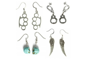 Biker earrings