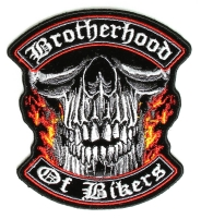 Small Brotherhood Of Bikers Vest Patch   Embroidered Patches