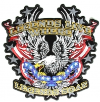 Legends Soar Large Eagle Patch   Embroidered Patches