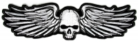 Metal Wings With Skull Patch   Embroidered Patches