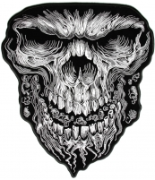 Large Vibration Skull Patch   Embroidered Patches
