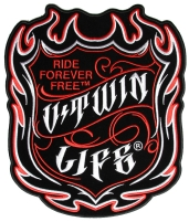 V Twin Life Ride Forever Free Patch   Embroidered Biker Patches
