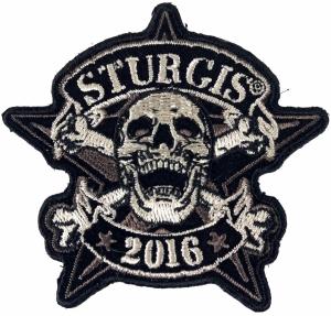 STENCIL SKULL 2012 STURGIS RALLY  BIKER  4 INCH SKULL  PATCH