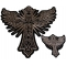 Christian Cross with Wings Small and Large Patch Set