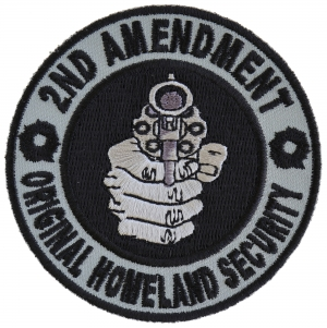2nd Amendment Gun Control Original Homeland Biker patch Patriot