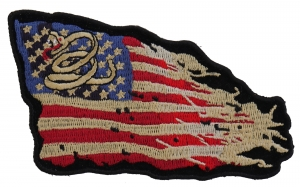Don't Tread On Me Patch black /& Red