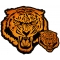 Large Orange Tiger Embroidered Patch Set Small And Large