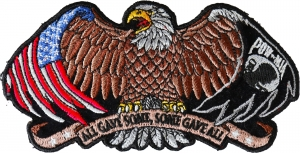 LARGE Biker Patch Born To Be Free Eagle Feather Iron On Embroidered Eagle Jacket Applique 12\u201d