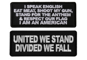 Patriotic saying patches