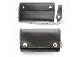 Wallets with chains for motorcycle riders