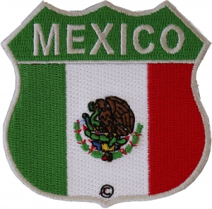 Mexico Flag Iron On Patch 2.75 x 2.75 inch Free Shipping Mexican P1331