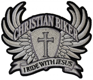 Iron On// Sew On Embroidered Patch Badge Cross Holy Cross Church Faith Oval
