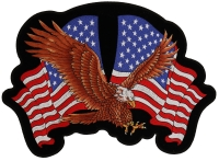 American Flag Spread Wings Patch   Embroidered Patches