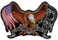 POW MIA Eagle Drop Wings Patch   US POW MIA Military Veteran Patches